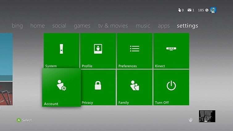 Xbox Account Settings