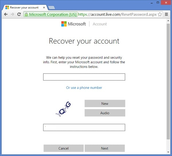 Live Account Recovery