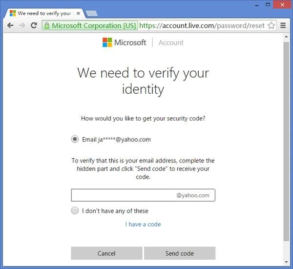 Verify Live Account Email