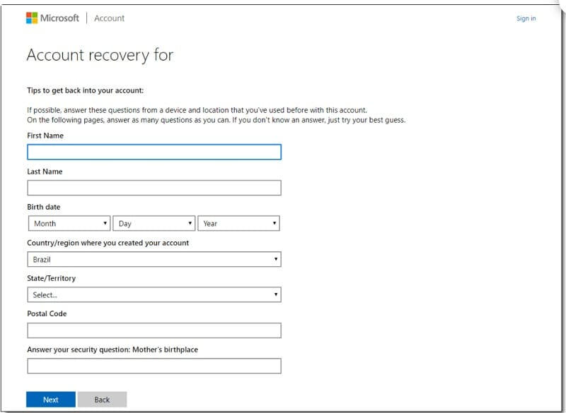 Xbox Live Recovery Wizard