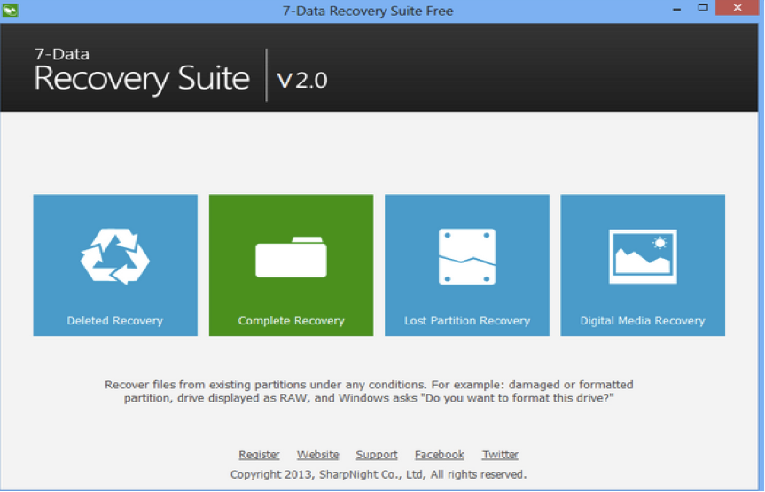 7 Data Recovery Suite Free Edition