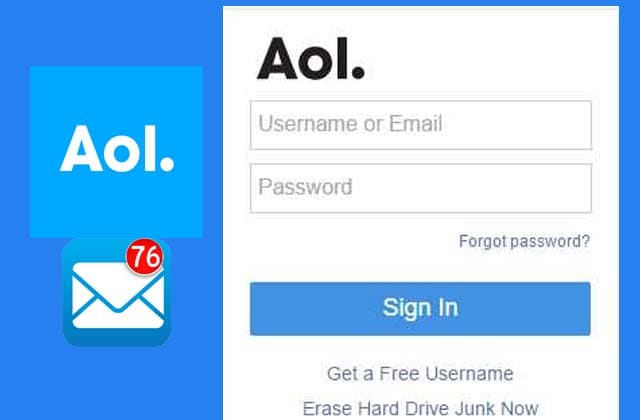 AOL sign-in page