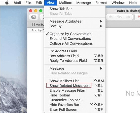 Mac Mail Show Deleted Messages