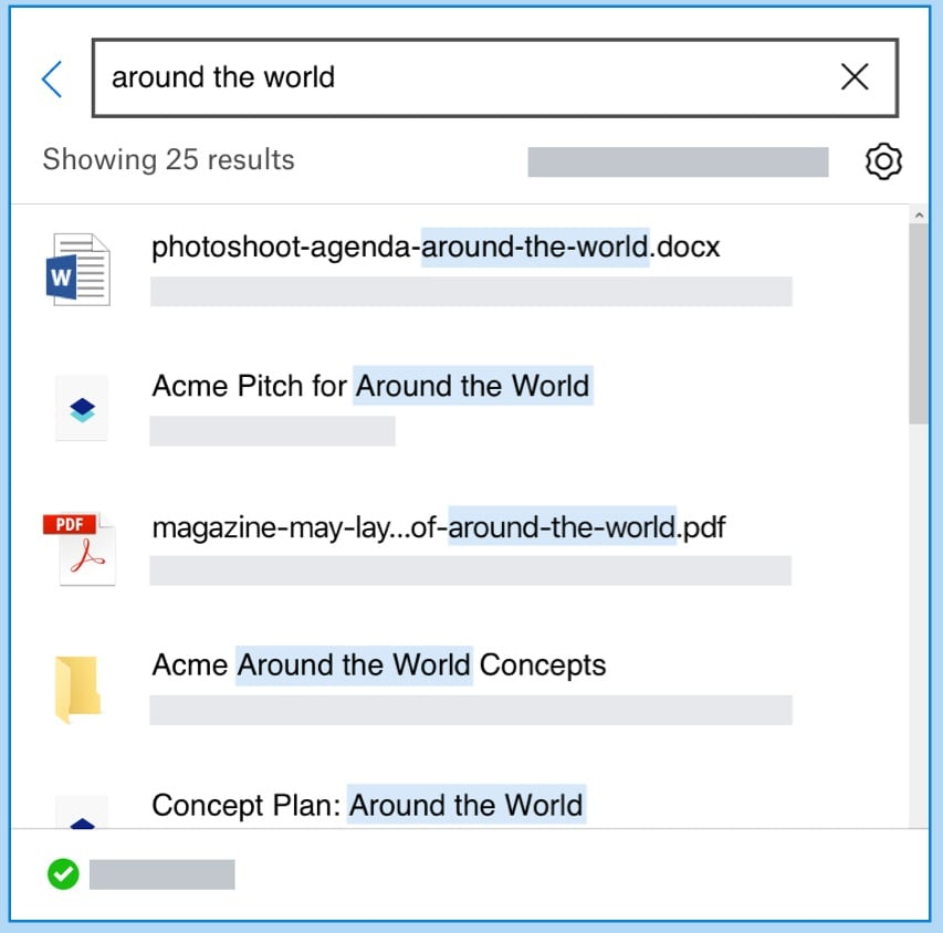 using the search bar option in deleted files page in dropbox