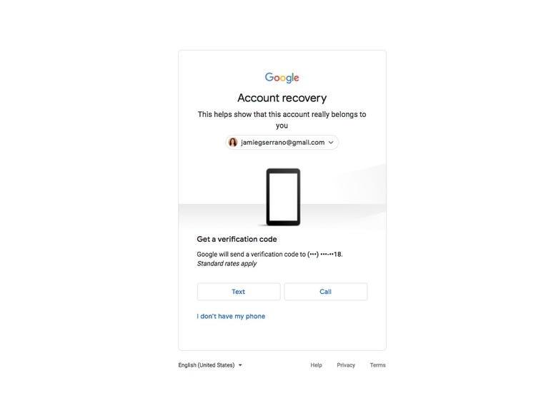 Send verification code on phone