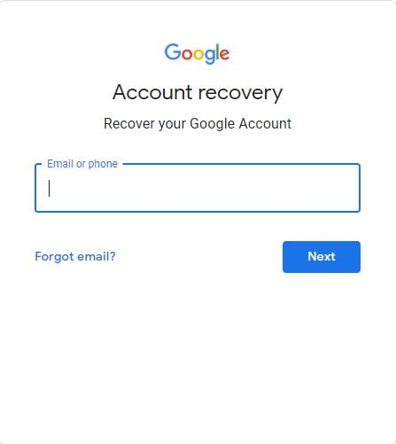Enter Gmail Recovery Email