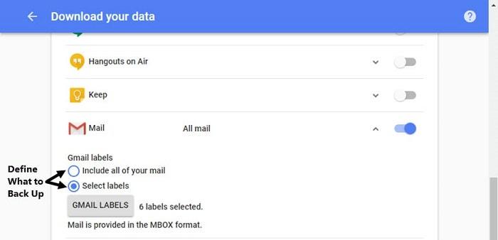 Gmail Takeout Backup