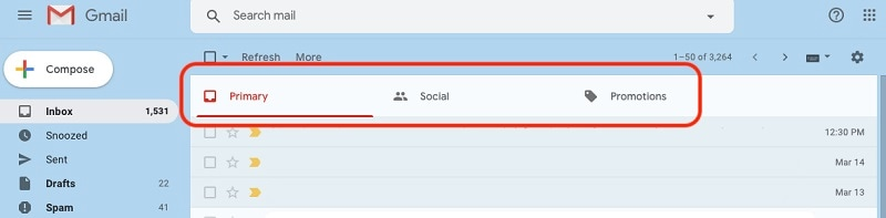 Gmail Social Promotions Tab