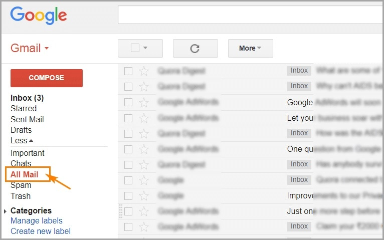 Gmail All Mails