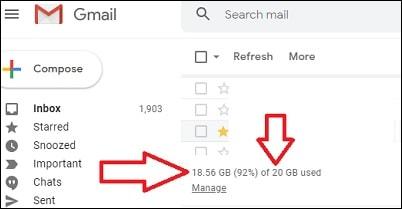 Gmail Manage Storage