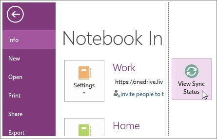 finding onenote notebook by manual sync technique