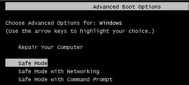 Backup Files in Safe Mode Banner