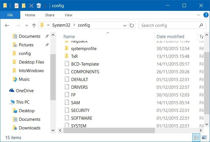 Windows Config Files