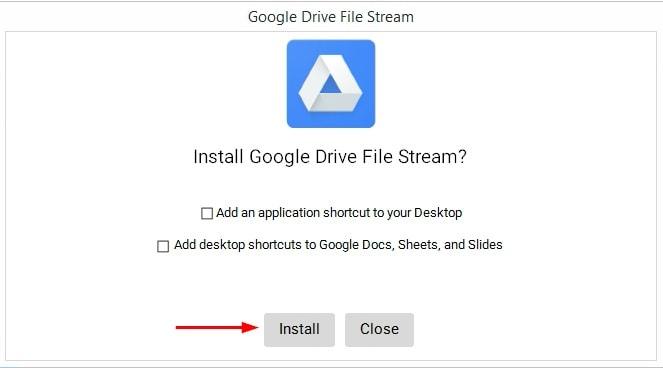 Google File Stream Installer