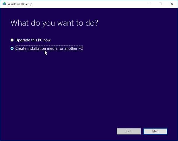 Windows Create Bootable Media