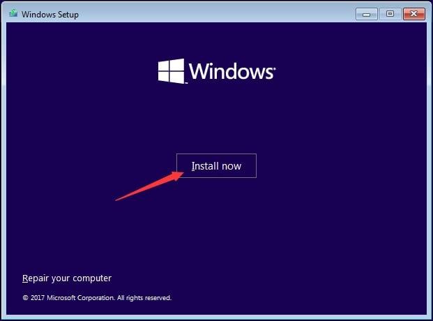 Install Windows via Bootable Media
