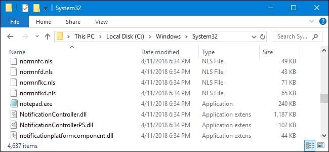 Windows System Files Location