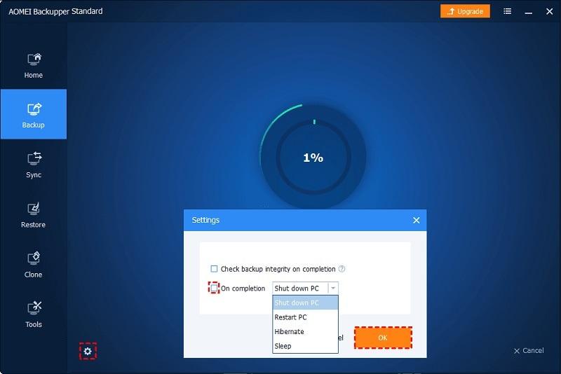 AOMEI Backupper Backup Settings