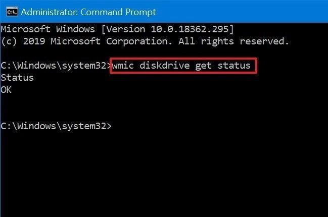 Command to Check Hard Drive Status