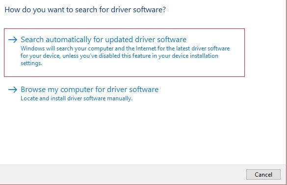 select the option of search automatically