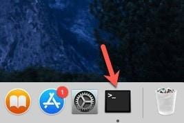 Mac-Terminal öffnen