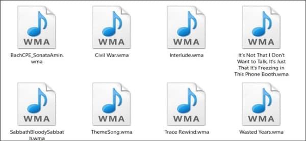 wma files