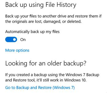 Windows File History