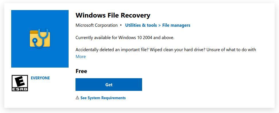 Recuperación de Archivos de Windows