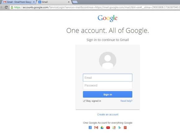 Sign-in to Google account