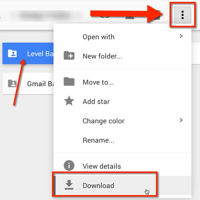 Download photos from old Google account