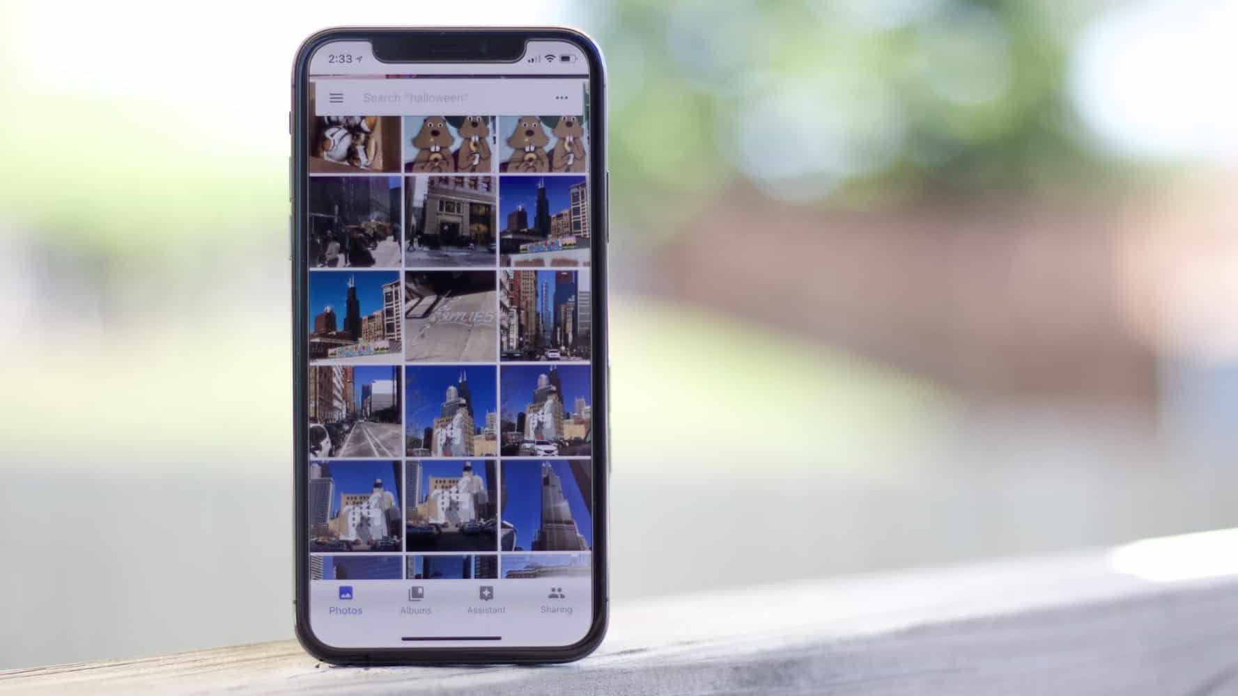 Select photos in Google Photos to share