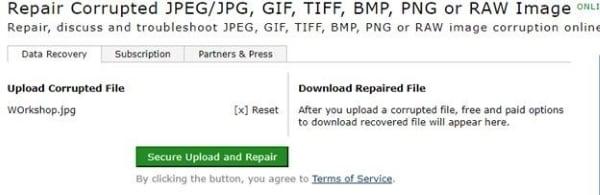 start the online repair process