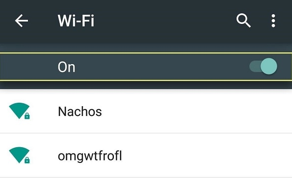 WiFi Settings on Android