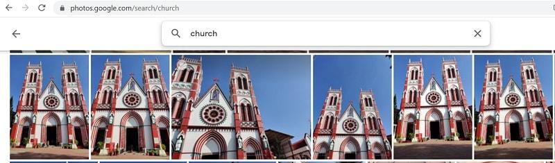Google Photos Smart Search