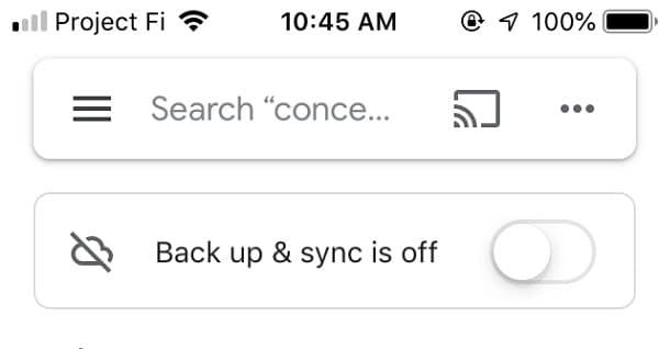 Enable Backup on Google Photos