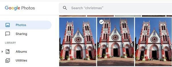 Google Photos Select Photo