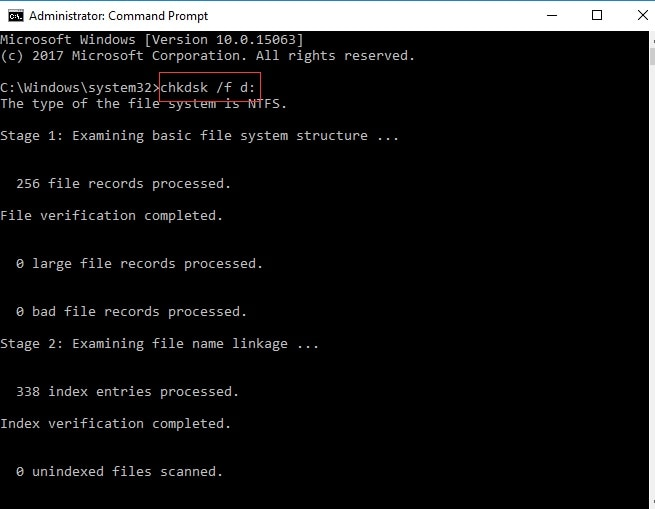 Chkdsk Command Prompt