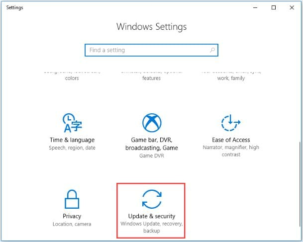 Windows Recover Option
