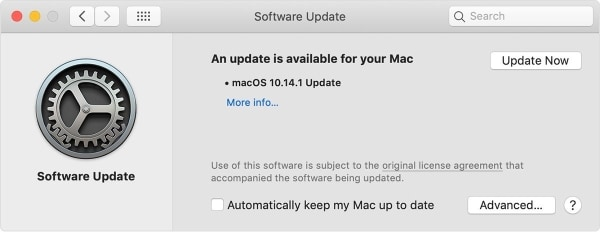 update your mac os