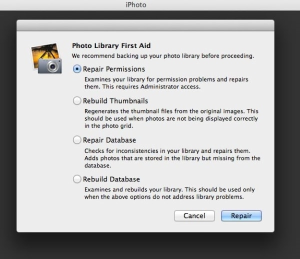 rebuild your photo library