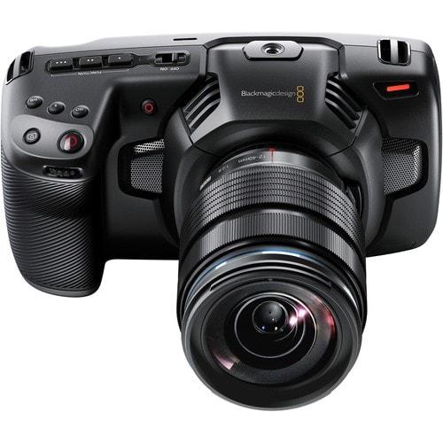 vista superior da câmera blackmagic