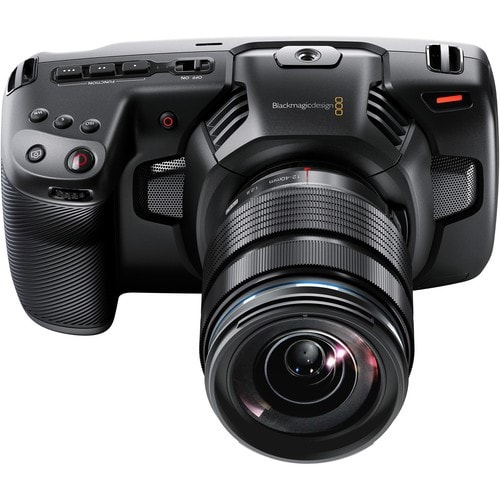 blackmagic design pocket cinema camera upper view