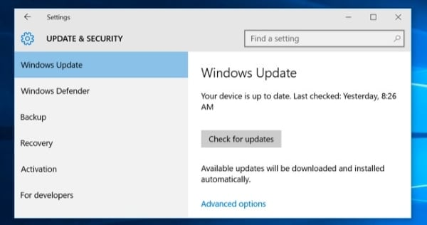 access windows settings