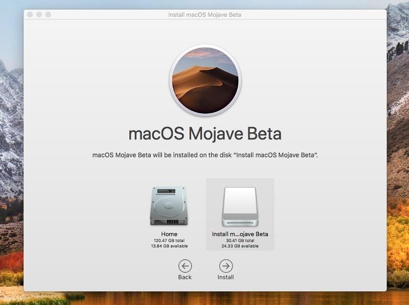 Select external harddrive in macOS