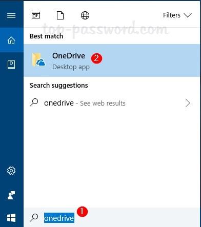 Go to OneDrive from taskbar