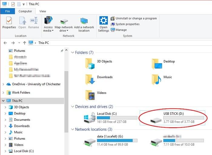 External Drive on Windows