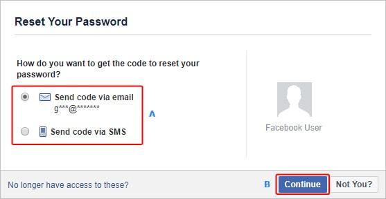 To facebook need password reset 3 Ways