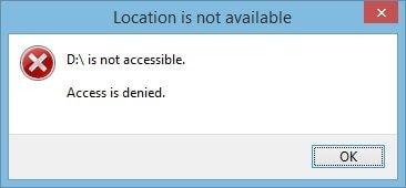 Logical Hard Drive Access Error