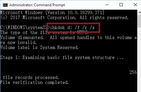 Chkdsk Command Prompt