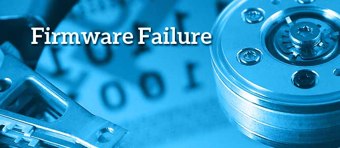 Firmware failure to hard drive